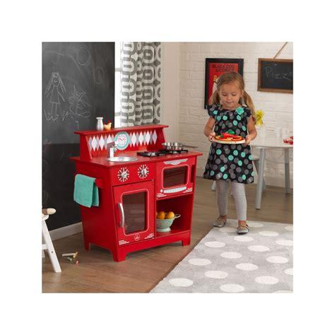 cuisine pour enfant en bois classic kitchenette rouge de