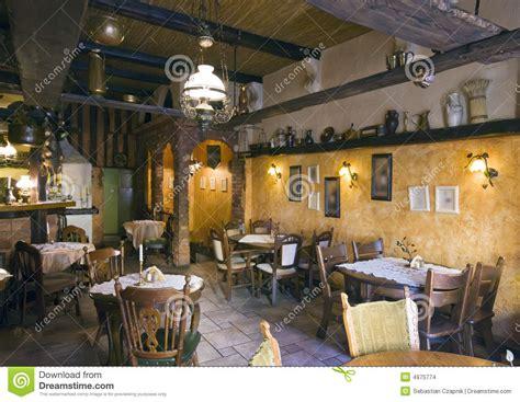 classic restaurant interior stock photo image