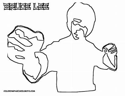 Bruce Lee Coloring Pages Stars Tough Film