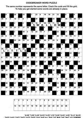 codebreaker word puzzle  printable puzzle games