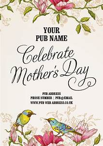 Mother's Day Event Poster (Artwork £60)   Hall and Woodhouse