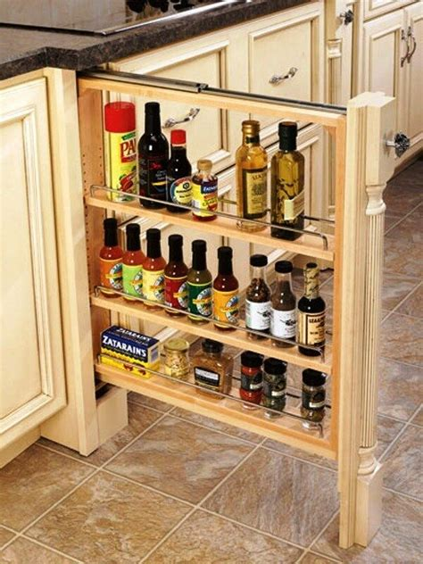 Slide Out Spice Racks For Kitchen Cabinets by Rev A Shelf Lower Cabinet Filler Pullout Organizer Spice