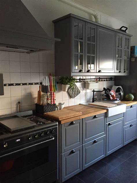 new cabinets for kitchen our new ikea kitchen bodbyn brey with the smeg oven ikea 3475