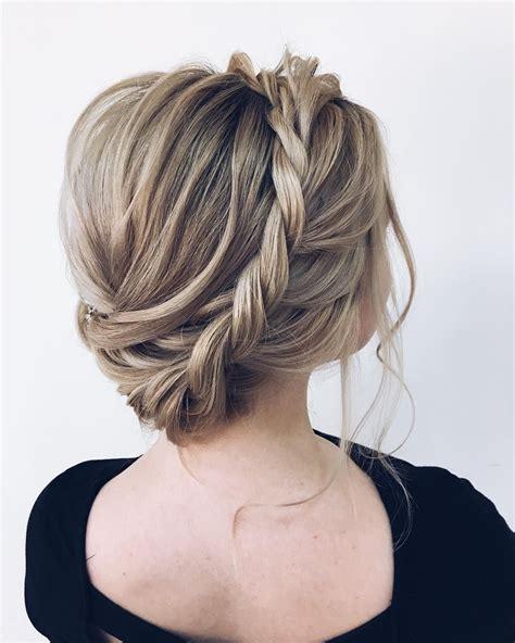 milk braid updo bride hairstyle textured updo hairstyle