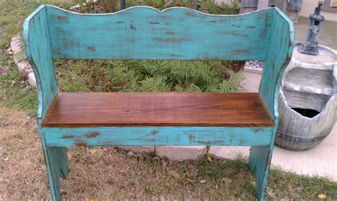 distressed turquoise bench  projects pinterest