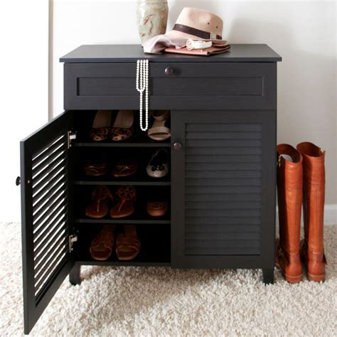 Shoe Cabinet Wood by Baxton Studio Calvin Wood Shoe Storage Cabinet In