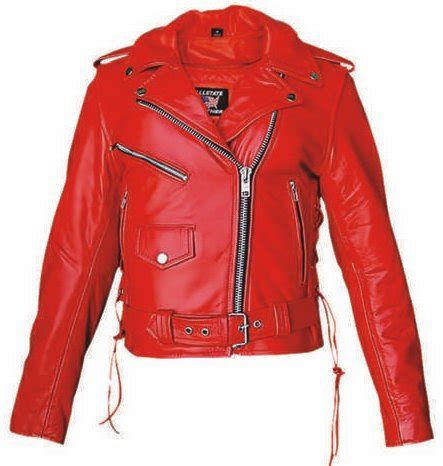 red leather motorcycle jacket womens top grain red leather biker motorcycle jacket zip