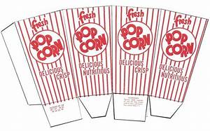 Popcorn box template - Plantilla caja de palomitas de maíz ...
