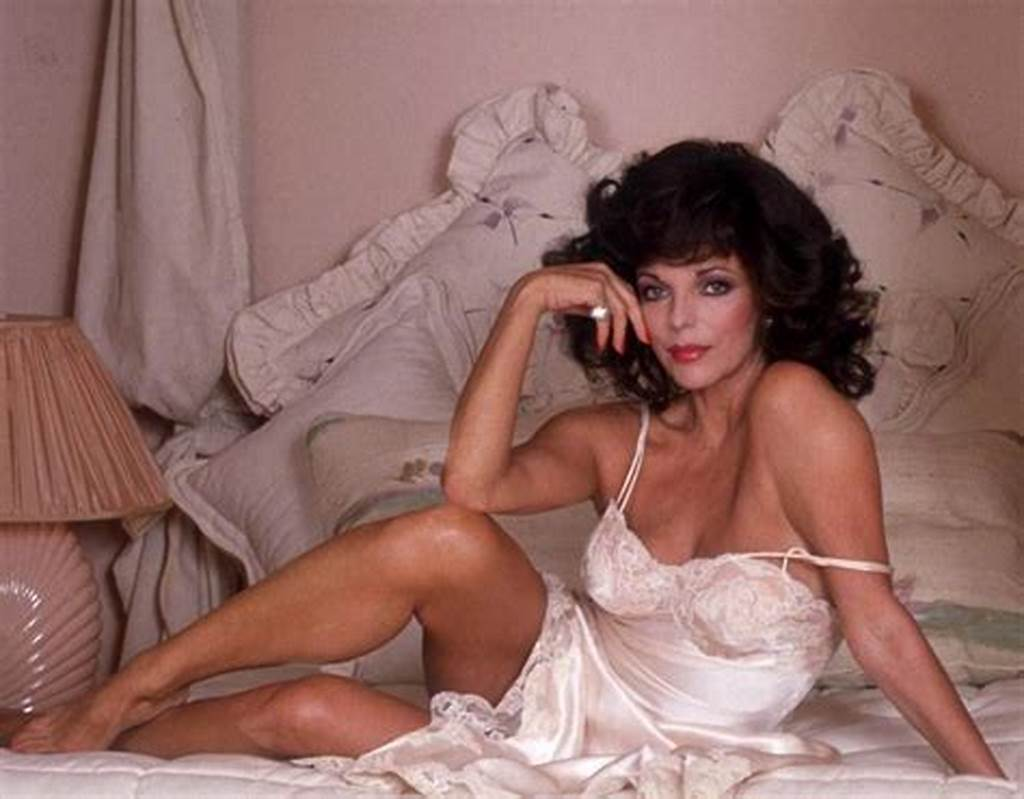 #Actress #Joan #Collins #At #Home #In #La #In #1993