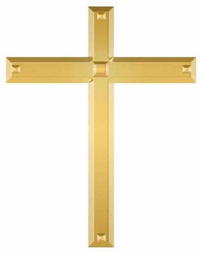 Cross Christian Clipart Golden Crosses Crucifix Transparent
