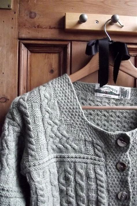 Irish Green Cardigan Sweater Women