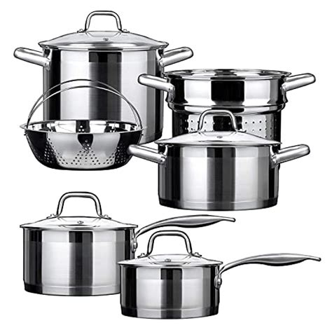 cookware steel stainless professional duxtop gas stoves