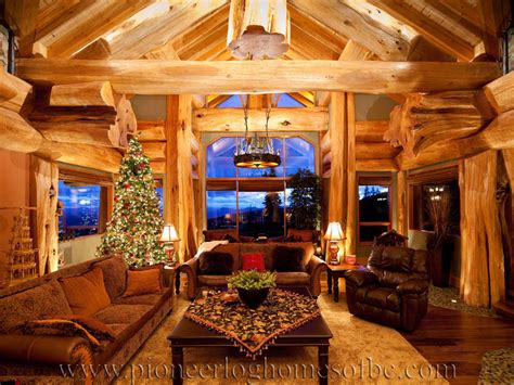 Log Cabin Style Living Room Loft Designs Bc, Canada