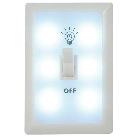 panda wall switch light nightlight 6 led