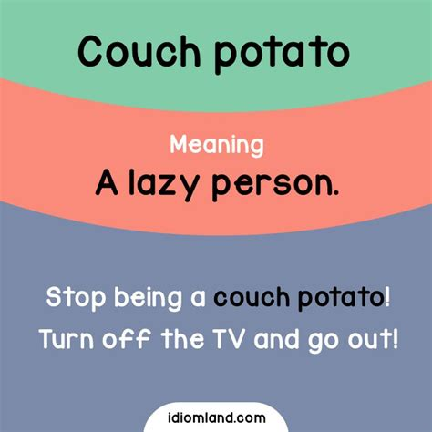 are you a couch potato idioms english learnenglish idiom cards pinterest english