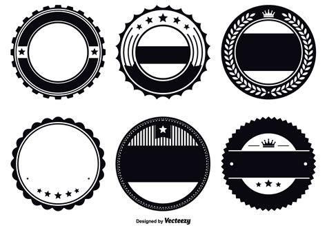 assorted badge template set   vector art
