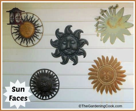 Sun Faces For Your Garden  The Gardening Cook. Atlas Safe Rooms. Decorative Urns For Ashes. Decorative Benches. Inexpensive Living Room Furniture. Decorating Bathroom Shelves. Decorative Strawberries. Black Dining Room Table Set. Decorative Metal Chimney Caps
