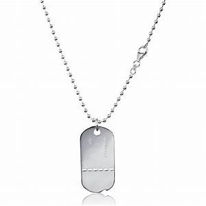 man silver militaire military tag With bijoux pour homme