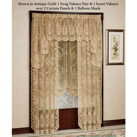 fiona tailored curtain panel antique gold 60 x 63 touch
