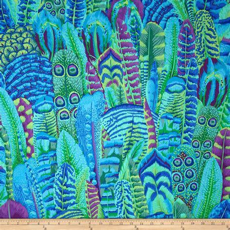 Kaffe Fassett Feathers Green  Discount Designer Fabric