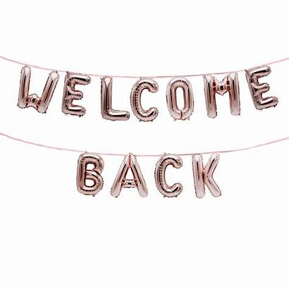 Welcome Balloon Banner Homecoming Mylar Foil 2x
