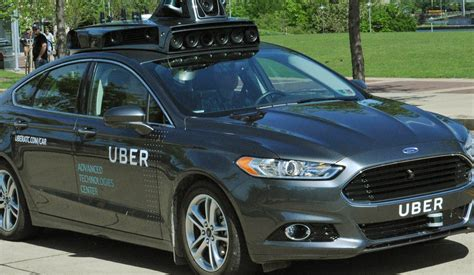 Selfdriving Uber Cars Driving In Pittsburgh Youtube