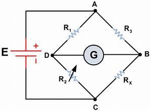 Wheatstone Bridge Circuit Theory And Working Principle