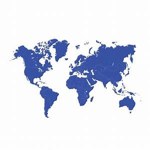 Blue world map design Vector | Free Download