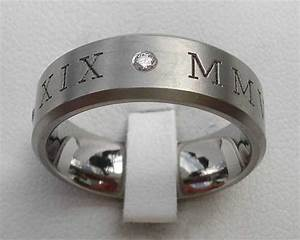 roman numerals wedding ring With roman numeral wedding ring