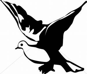 Winged Black And White Dove Clipart #LLQ9uR - Clipart Kid