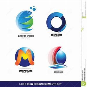Logo Icon Design Elements Set Stock Vector - Illustration ...