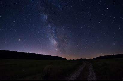 Pemandangan Sky Night Malam Hari Gambar Alam