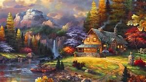 Beautiful, Winter, Evening, Background, Hd, Wallpaper ...