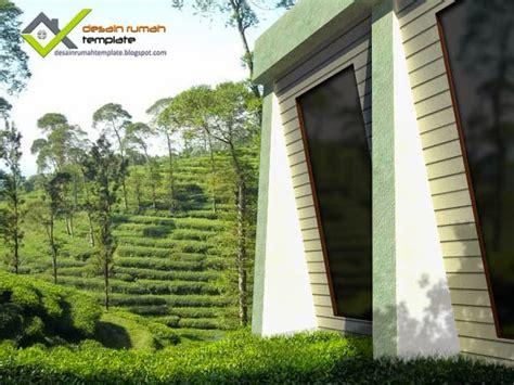 hunian minimalis  atas bukit desain rumah template