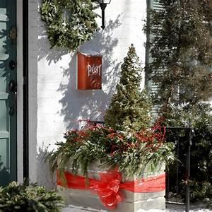 Garten Weihnachtlich Dekorieren : weihnachtliche dekoration f r einen festlichen hauseingang ~ Michelbontemps.com Haus und Dekorationen
