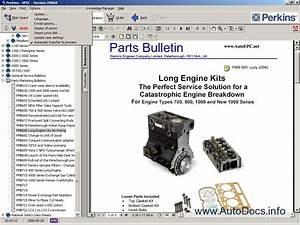 Perkins Spi2 2008 Parts Catalog Repair Manual Order  U0026 Download