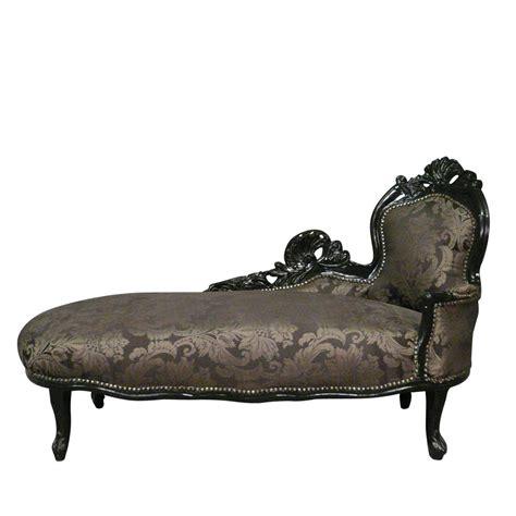 chaise a but chaise longue baroque black baroque furniture