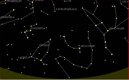 Constellations Stars Astronomy North Pole Web Rotating