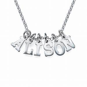 multiple initial necklace in silver mynamenecklace uk With multiple letter necklace