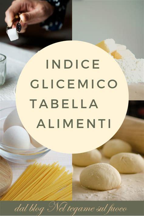valore glicemico alimenti indice glicemico tabella alimenti aicha alimenti per