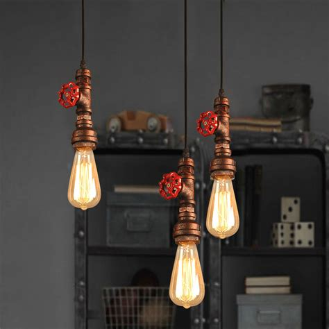 iron pipe light fixture iron loft retro diy industrial pipe vintage ceiling light