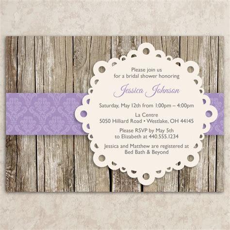 rustic bridal shower invitation diy printable jpeg file