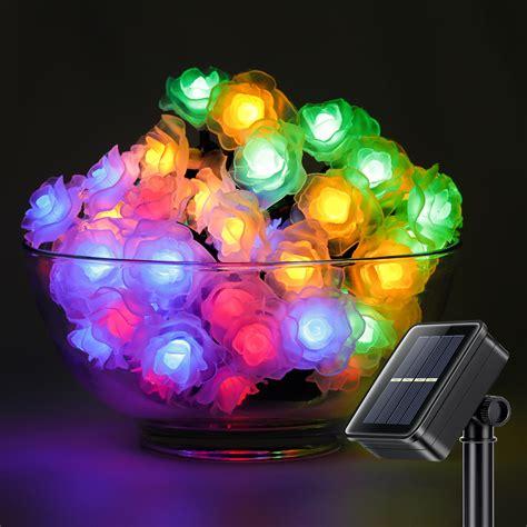 decorative solar lights 50led 26ft string lights flower decorative