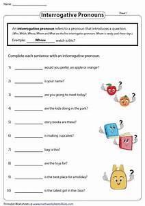 Grade 4 Interrogative Pronouns Worksheet