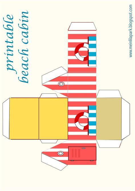 printable summer favor box ausdruckbare geschenkbox