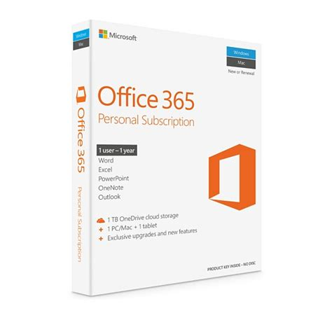 microsoft office 365 personal 1 year subscription 1