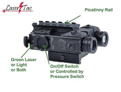 laser light for rifle lasertac compact rifle green laser sight with bright