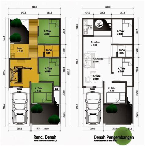 contoh gambar denah rumah minimalis terbaru kumpulan