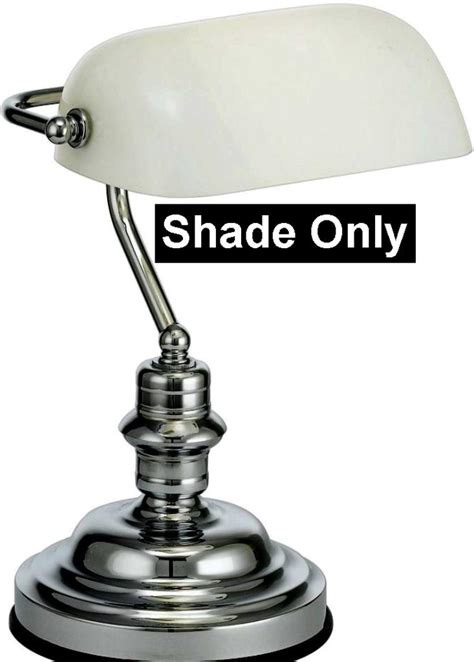 white glass bankers  pharmacy lamp shade lamp shade pro