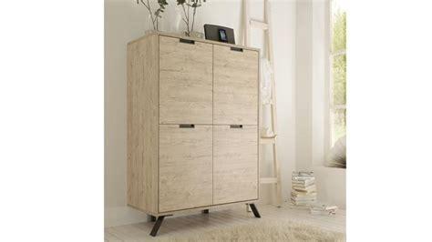 canapé pour salon meuble de rangement nekho 4 portes en bois et piètement
